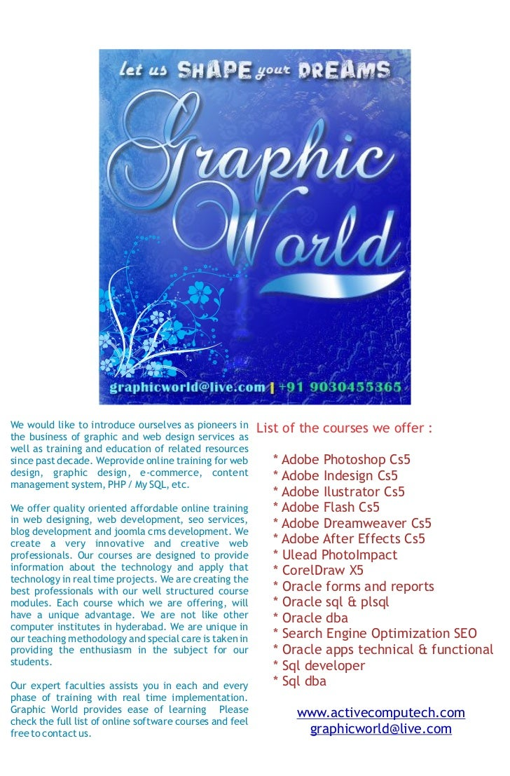 Online Courses@Graphicworld