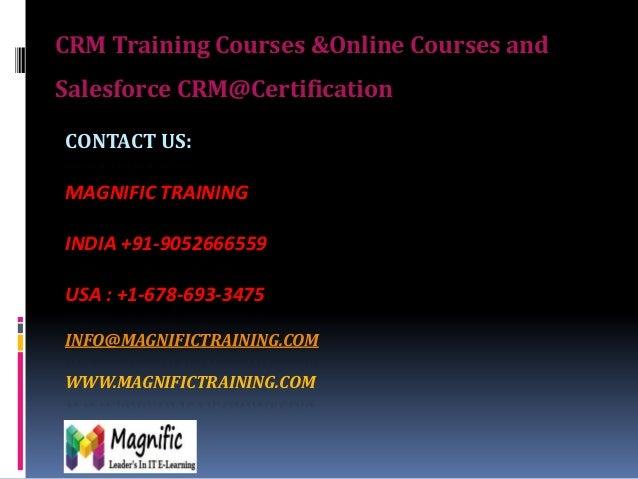 Online crm salesforce training
