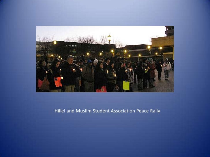 Hillel and Muslim Student Association Peace Rally