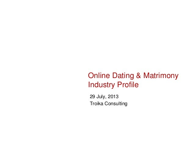 Online Dating & Matrimony Industry Profile 29 July, 2013 Troika Consulting