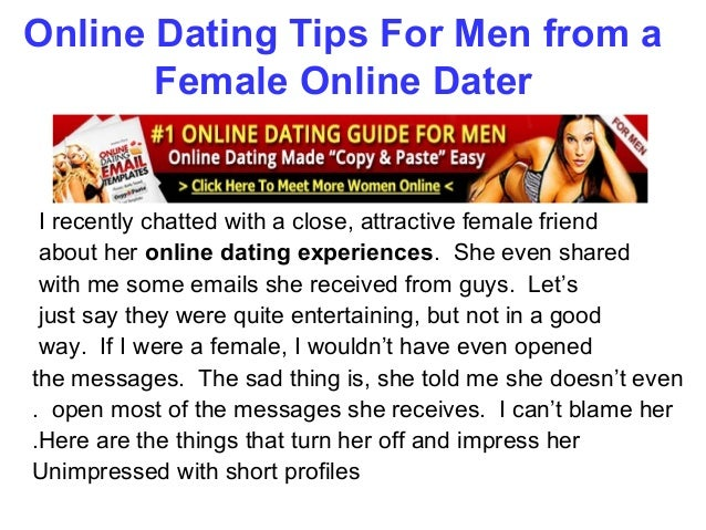 Online dating for men
