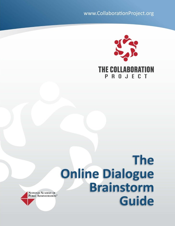 Online Dialogue Brainstorm Guide