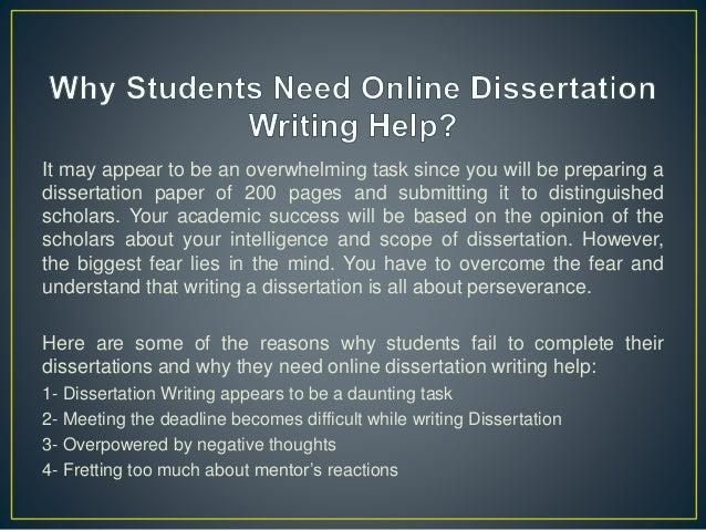 Get Dissertation writing help