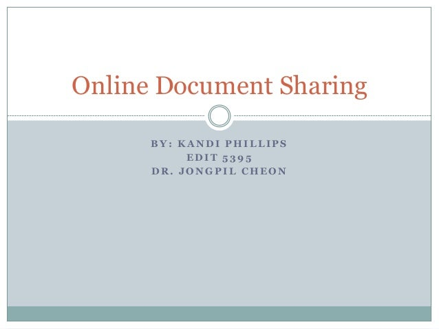 Online document sharing