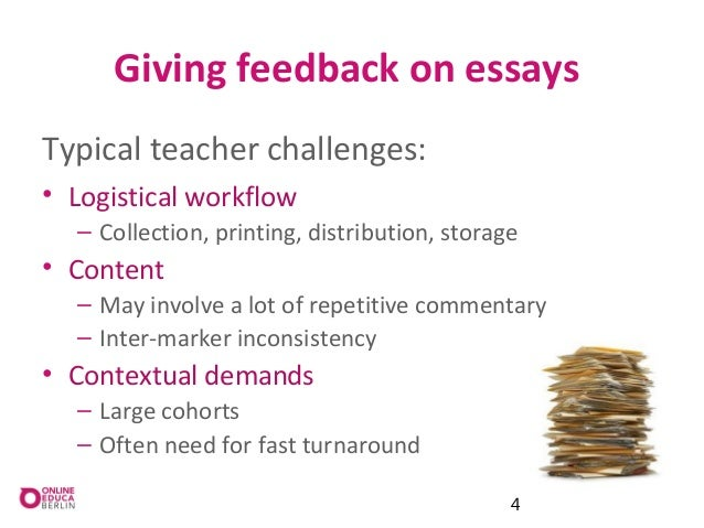 the importance of feedback essay Feedback is an essential part of education, training and personal development, and the most effective leaders actively seek it to enhance their performance.