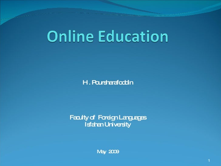 Online Education By Hamed Poursharafoddin حامدپورشرف الدین