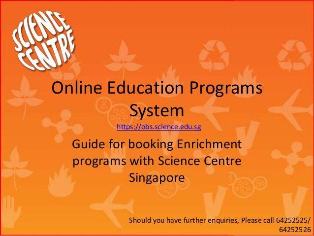 Online education programs system