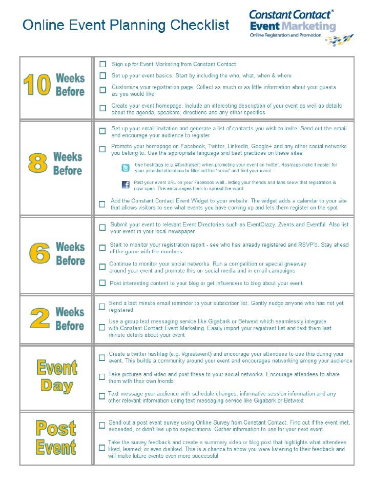 conference checklist template .