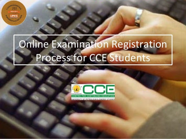 Online Examination RegistrationProcess for CCE Students
