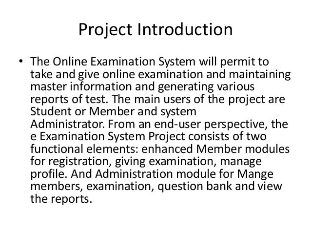 """chapter 1 of online examination system The """"security assessment process"""" document contains a series of recommendations for the detailed examination step 1: characterize the system chapter 1."""