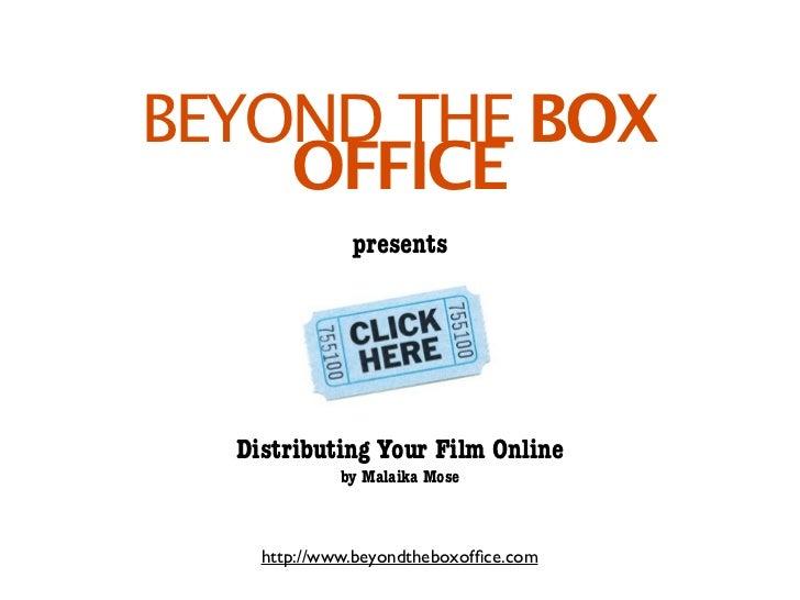 Distributing your film online