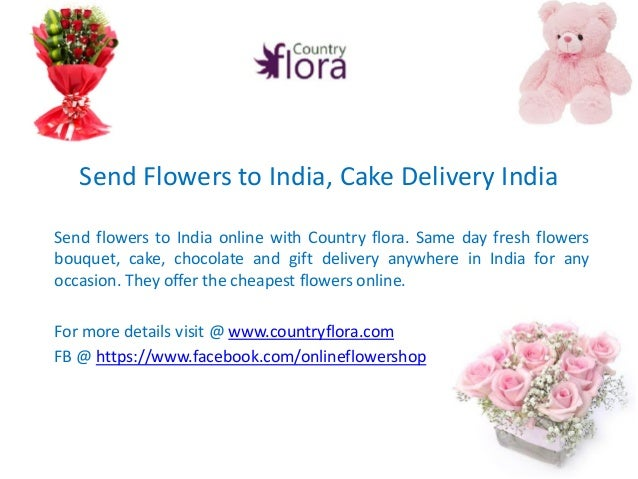 how to send cakes to india