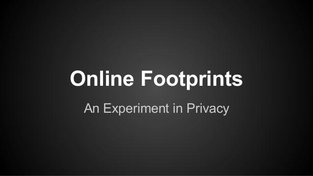 On line footprint