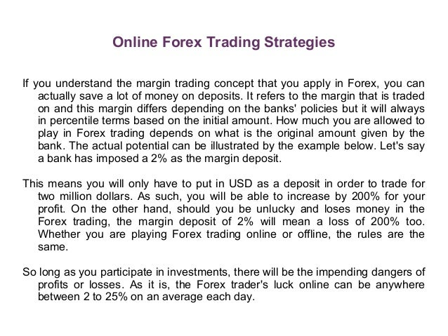 Forex trading techniques strategies
