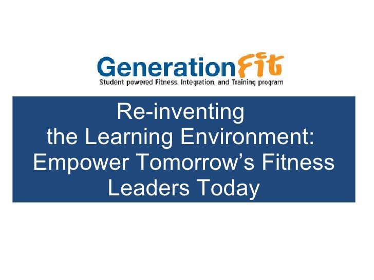 ExerLearning - What's Generation FIT