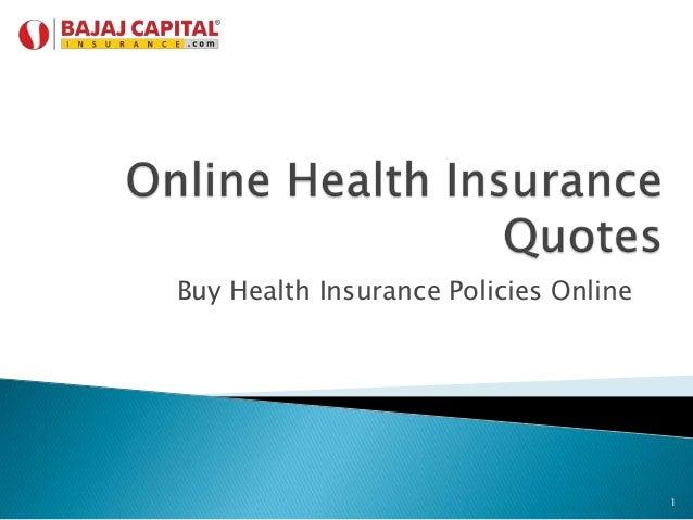 Buy Health Insurance Policies Online  1