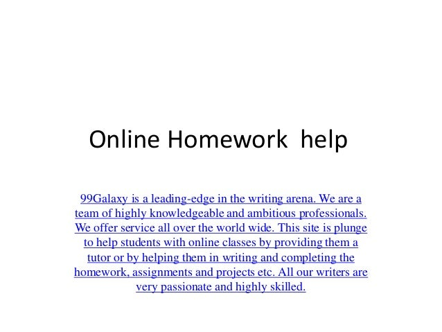Get Online Homework Help with Solvemyassignment