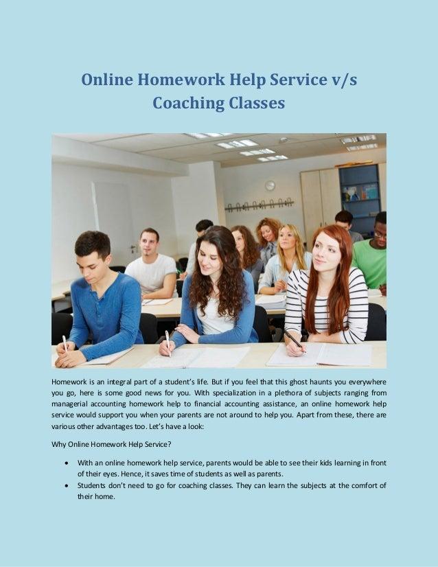 Online homework serice