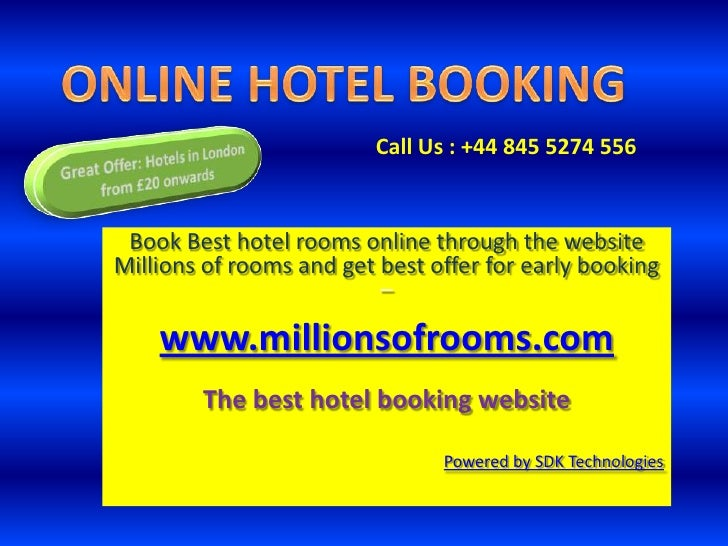 Online hotel booking, Hotel room reservation site