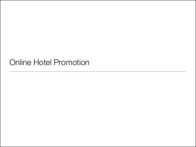 Online Hotel Promotion