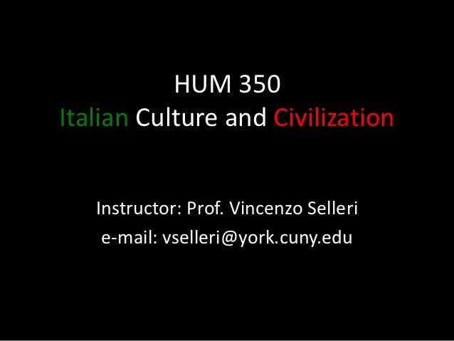 Hum 350 Course Overview
