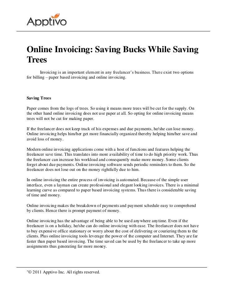 Online invoicing