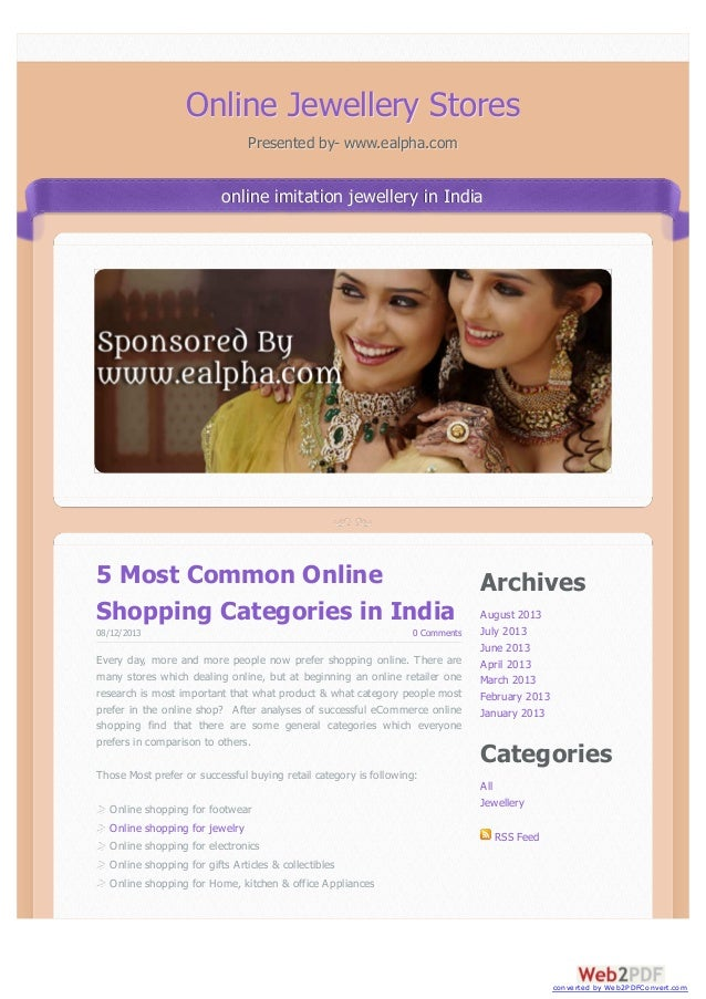 Archives August 2013 July 2013 June 2013 April 2013 March 2013 February 2013 January 2013 Categories All Jewellery RSS Fee...