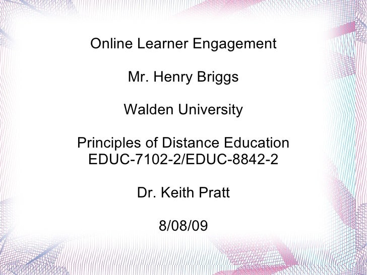 Online Learner Engagement H Briggs6