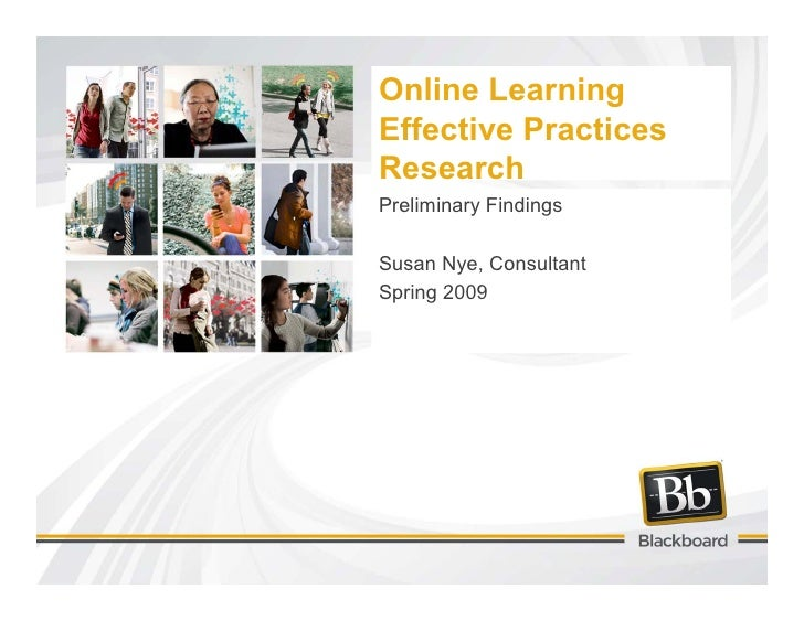 Online Learning Effective Practices Research Spring09