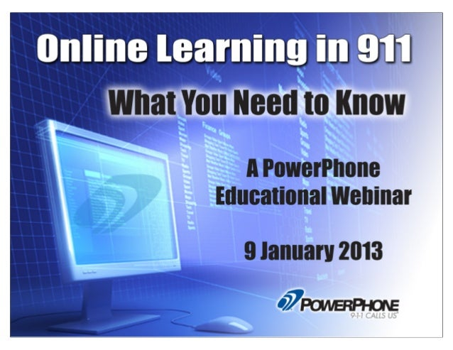 Online Learning in 911: A PowerPhone Webinar