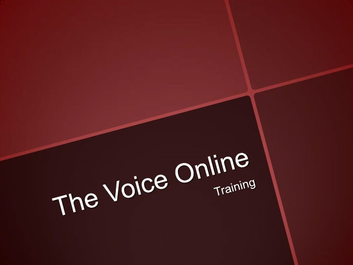 The Voice Online<br />Training<br />