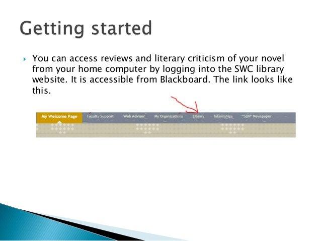 Literary criticism online?