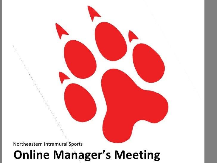Online Manager's Meeting Northeastern Intramural Sports