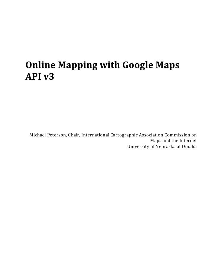 Online mapping with_the_google_maps_api