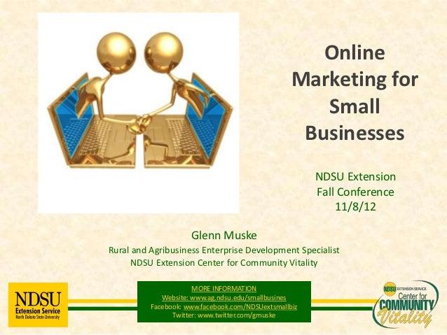 Online                                                  Marketing for                                                     ...