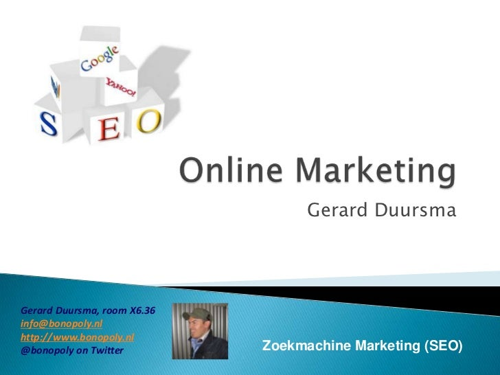 Online Marketing - Zoekmachine Marketing: SEO