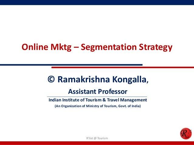Online marketing segmentation strategy