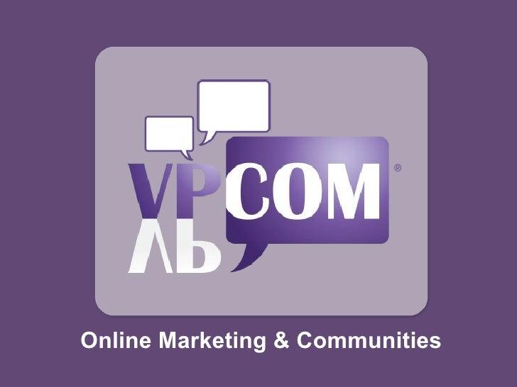 Online Marketing & Communities