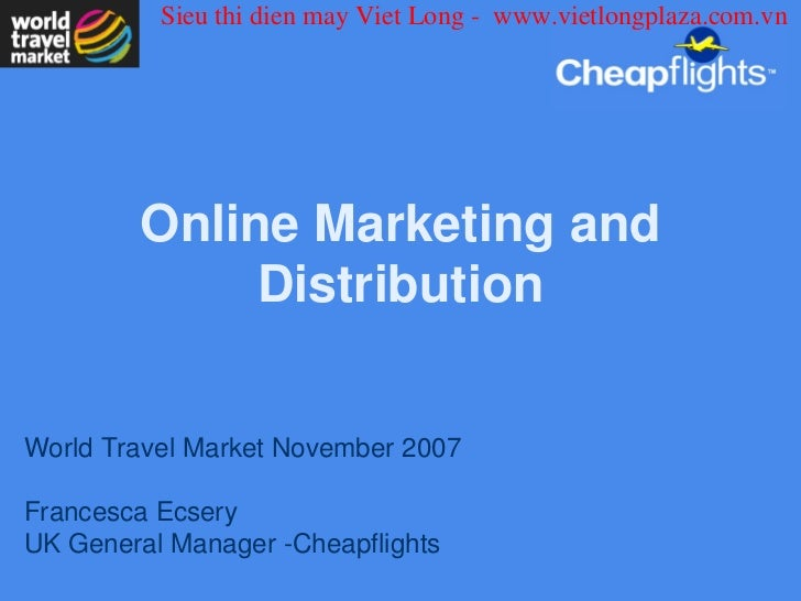 Online marketing and distribution