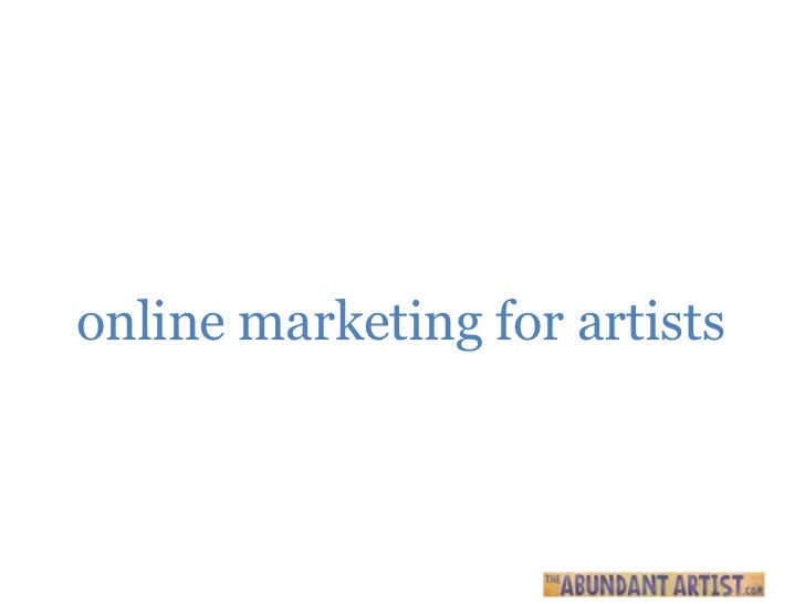 online marketing for artists