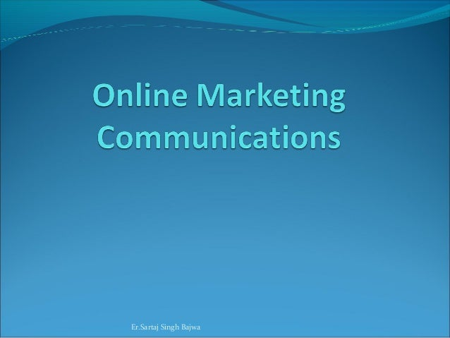 Online marketing communications