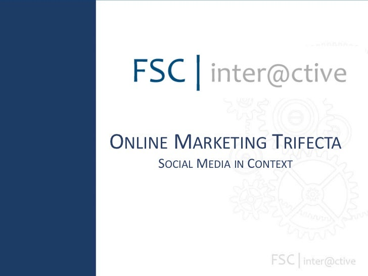 Online Marketing TrifectaSocial Media in Context<br />