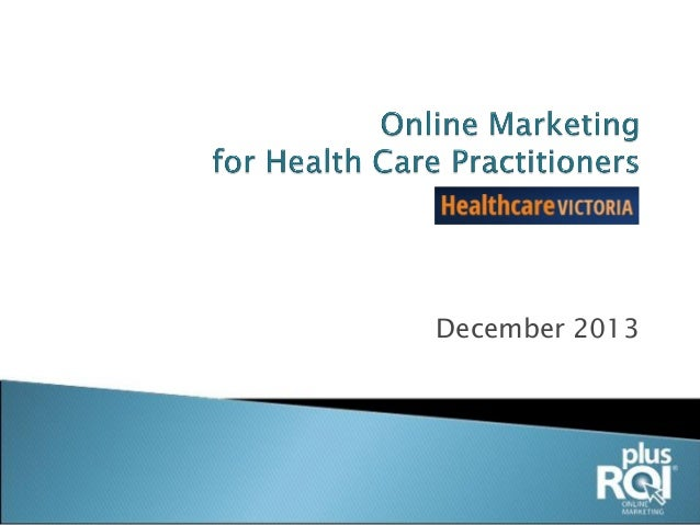 Online Marketing For HealthCare
