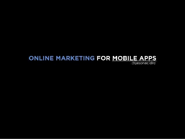 Online Marketing for Mobile Apps