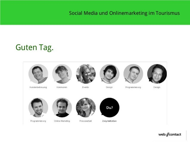 Social Media und Onlinemarketing im TourismusGuten Tag.