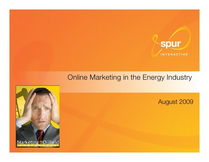 Online Marketing in the Energy Industry