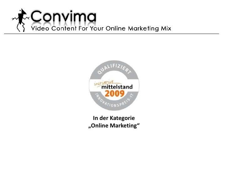 """In der Kategorie<br />""""Online Marketing"""" <br />"""