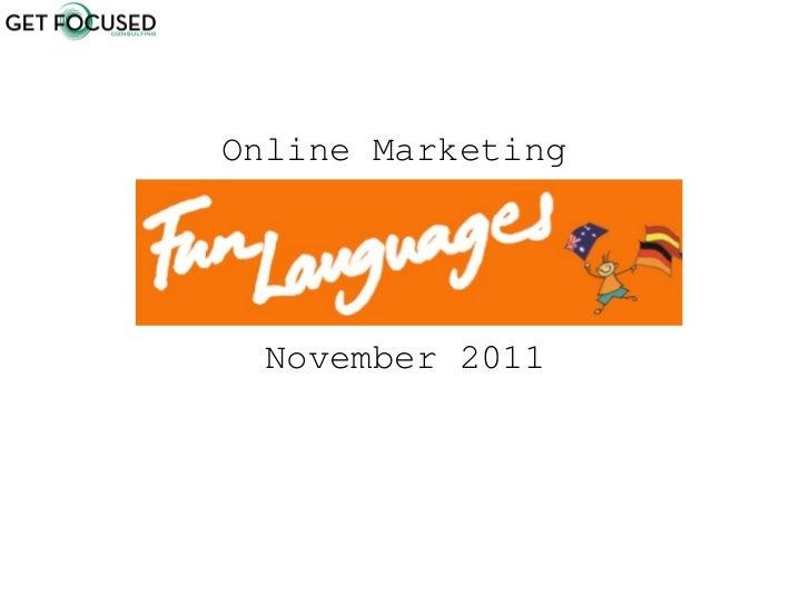 Online Marketing  November 2011