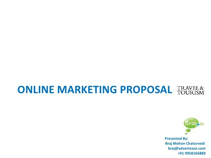 Online Marketing Proposal For Travel Industry