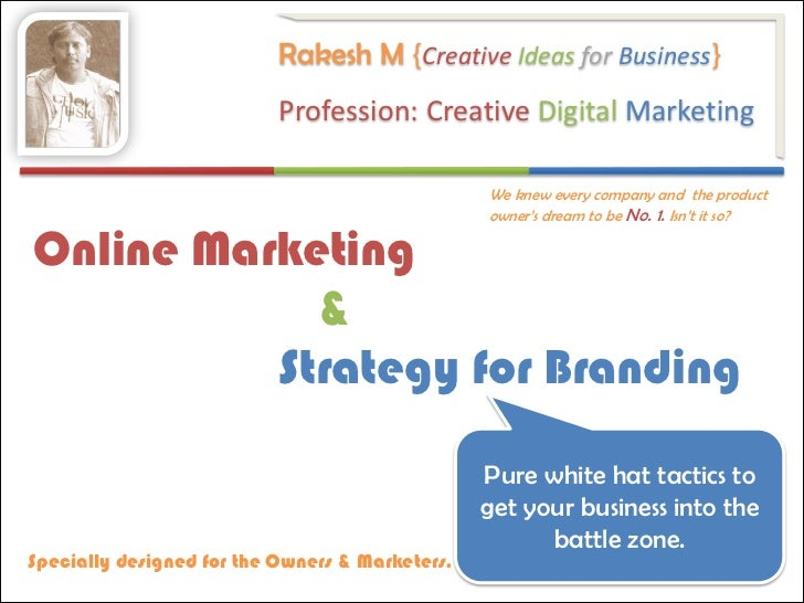 Online Marketing & Strategy For Branding